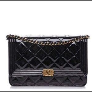 fac088ee33696e Chanel boy patent WOC black GH crossbody bag